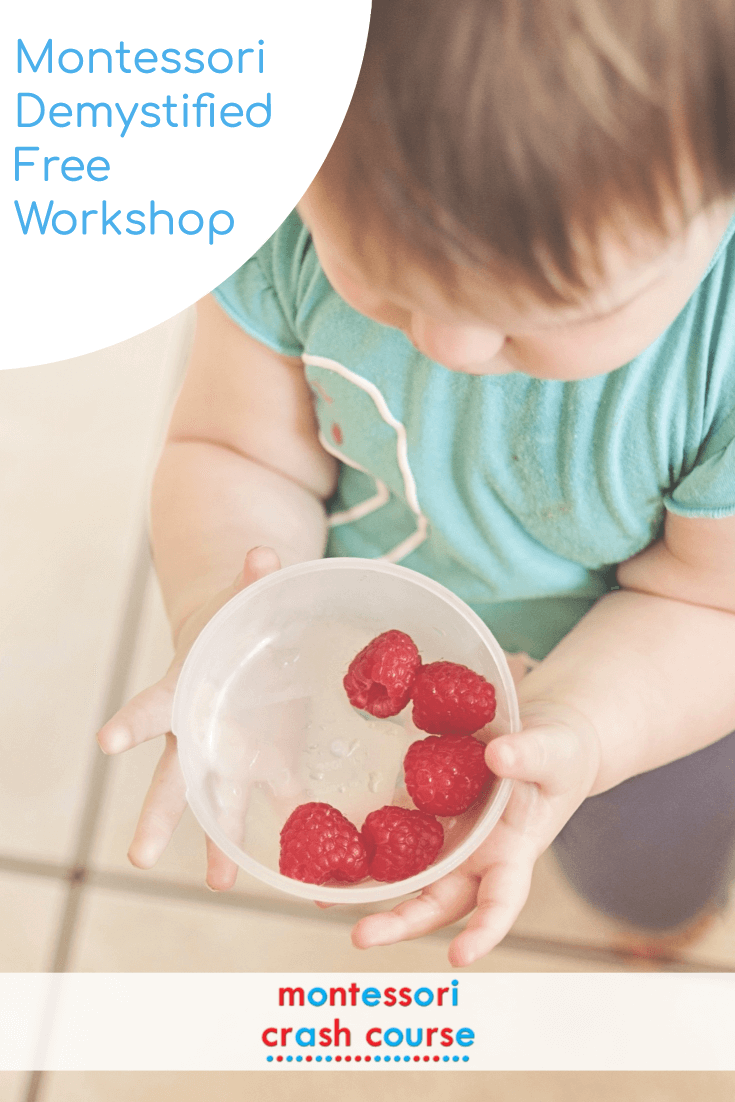 Montessori Demystified FREE workshop for parents struggling to implement Montessori at home #montessori #homeschool #toddler